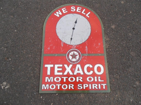 Texaco Service Station Wall Clock