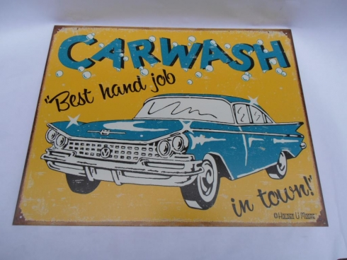 Car Wash Advertising Sign