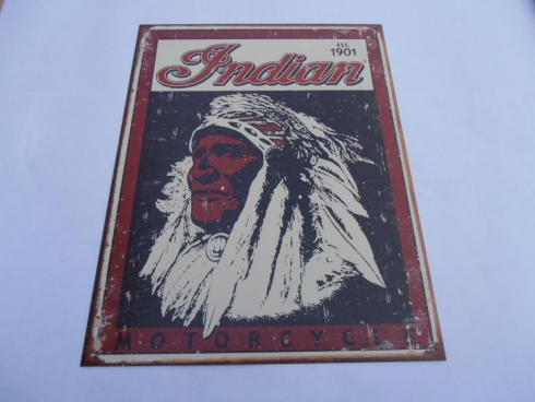 Indian Motorcycles Indian Chief Tin Sign