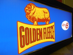 Golden Fleece Petrol Company Feature Light Box
