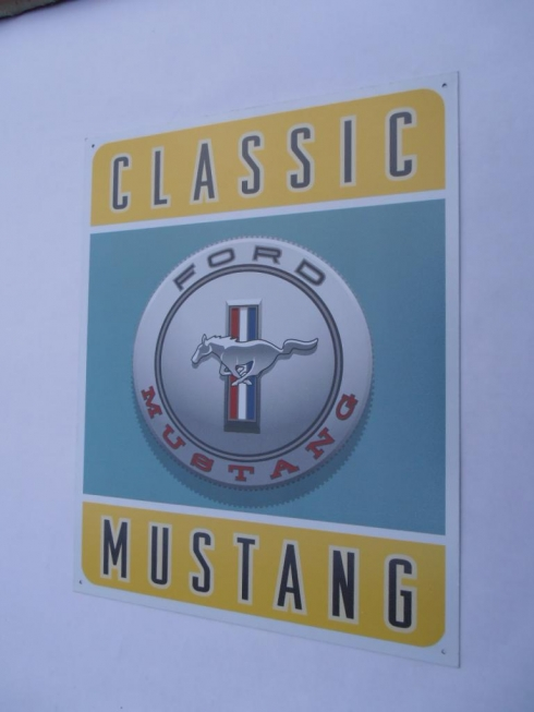 Mustang Classic Ford Metal Sign