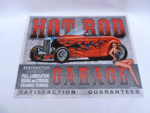 Hot Rod Petrolania Retro Cool Tin Sign