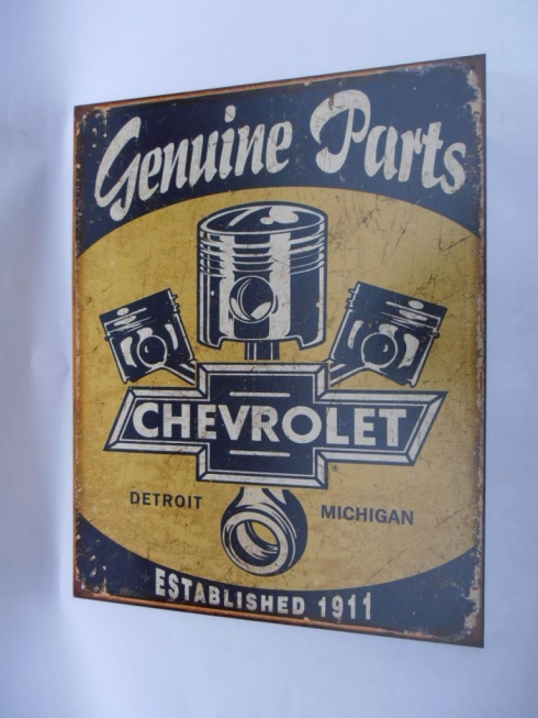 Chevrolet Genuine Parts Garage Sign
