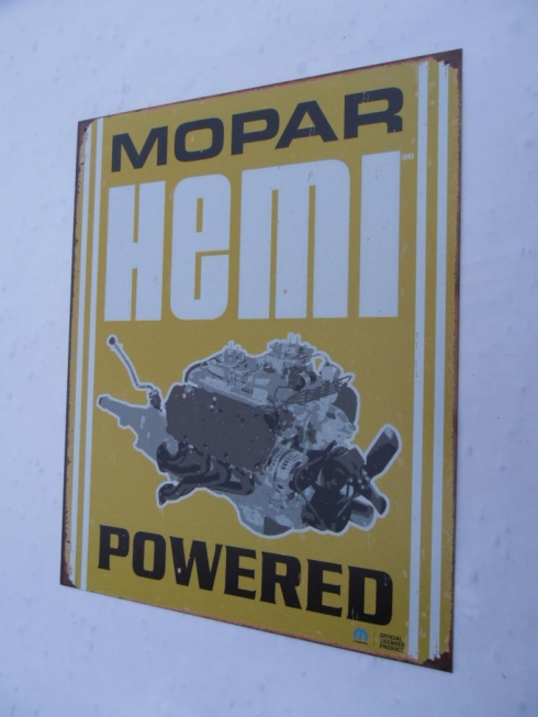 Mopar Hemi Tin Sign