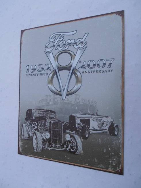 Ford 75th Anniversary Metal Sign