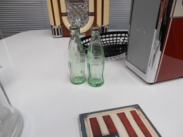 Coke Glass Retro USA BRAND Salt and Pepper Shakers