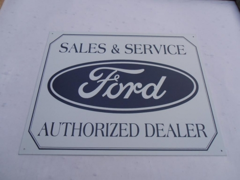 Ford Sales Distributor Advertising Sign