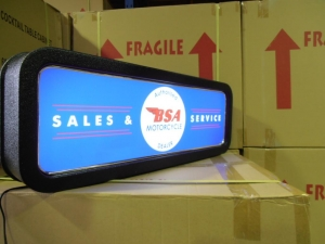 BSA Motorcycle Co Feature Light Box