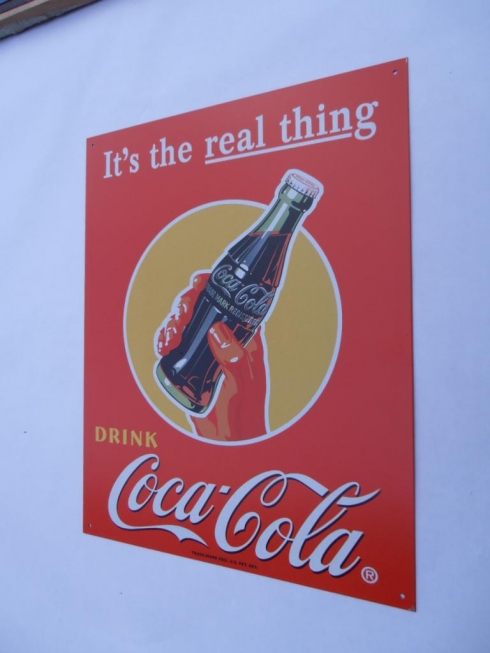Coke The Real Thing Advertising Sign