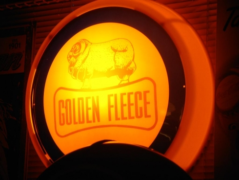 Golden Fleece Wall Mount Light Up Globe