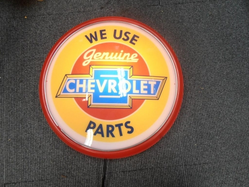 Chevrolet Parts Wall Mount Light Up Globe