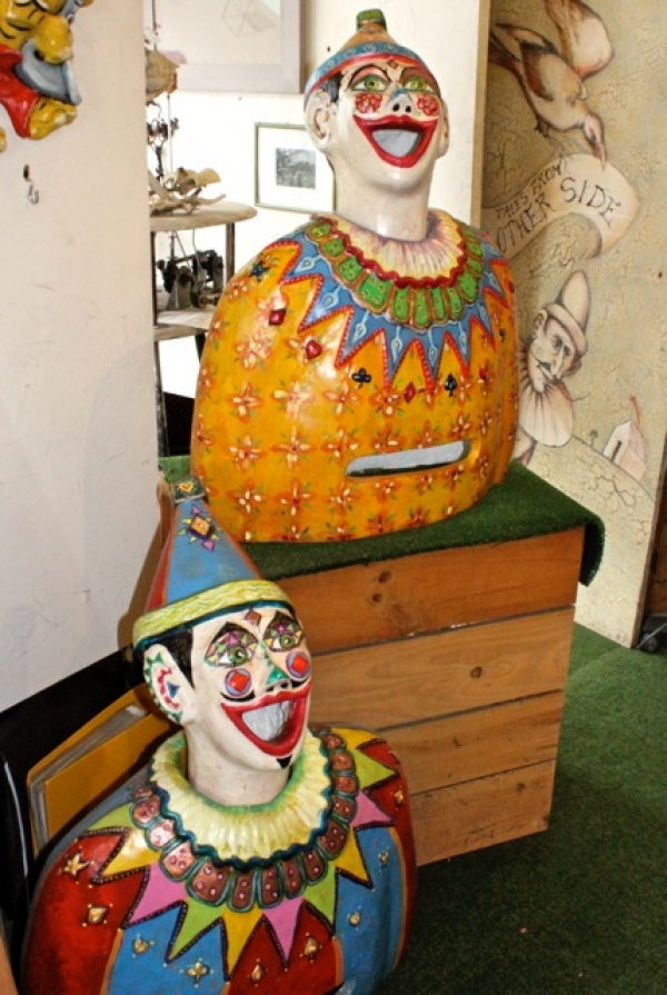 Luna Park Hand Made Carnival Clowns