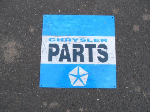 "Chrysler Parts ""Blue"""