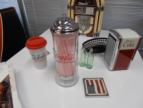 Coke Fully Licensed Glass Straw Dispenser