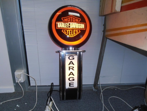 Harley Davidson Garage Wall Mount Light Up Globe